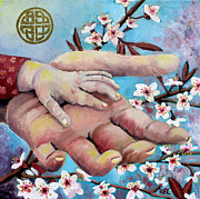 Cherry Blossoms Painting Originals - Hands of Love by Renee Thompson