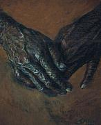 Hands Pastels Metal Prints - Hands of Time Metal Print by Tommy  Winn
