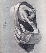 1506 Paintings - Hands  Study by Pg Reproductions
