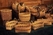 Baskets Digital Art Posters - Handwoven Baskets Poster by Linda Phelps