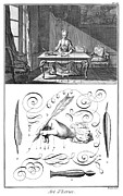 French Handwriting Prints - HANDWRITING, 18th CENTURY Print by Granger