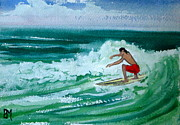 Seascape Drawings Originals - Hang Loose by Pete Maier