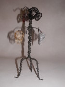 Black Sculpture Originals - Hang Your Hat by Charlene White