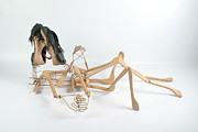Shoe Sculpture Posters - Hangers On Poster by Michael Jude Russo
