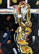 Lakers Prints - Hangin Out Print by Wayne LE ONE