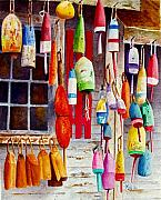Bouys Posters - Hanging Around Poster by Karen Fleschler