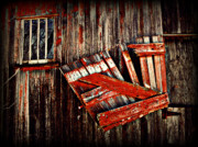 Barn Digital Art Metal Prints - HAnging by a few nailsS Metal Print by Julie Hamilton