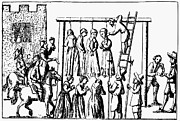 Trial Prints - Hanging Of Witches, 1678 Print by Granger