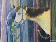 Stable Painting Originals - Hanging Out by Lisa Barr