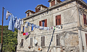 Drying Laundry Posters - Hanging Out To Dry in Rovinj Poster by Madeline Ellis