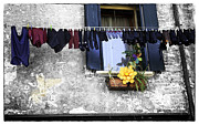 Drying Clothes Framed Prints - Hanging Out To Dry In Venice 2 Framed Print by Madeline Ellis