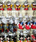 Key Chain Framed Prints - Hanging Out with Mickey and Minnie Framed Print by Mindy Newman