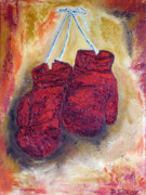 Glove Painting Originals - Hanging up the Gloves by Peter Silkov