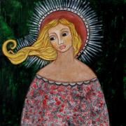 Folk Art Paintings - Haniel by Rain Ririn