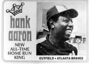 Braves Prints - Hank Aaron, After Record Breaking 715th Print by Everett