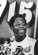 Braves Posters - Hank Aaron, During A News Conference Poster by Everett