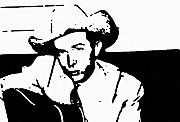Music Drawings Prints - Hank Williams Print by Jeff DOttavio