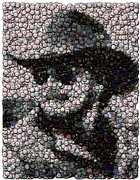 Bottle Cap Mixed Media Framed Prints - Hank Williams Jr. Bottle Cap Mosaic Framed Print by Paul Van Scott
