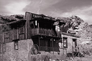 White Photos - Hanks Hotel in Calico Ghost Town by Susanne Van Hulst
