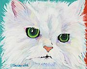 Cat Prints Painting Framed Prints - Hannah Framed Print by Pat Saunders-White