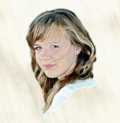 Hannah Portrait Print by Randy Steele