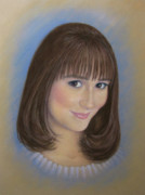 Young Woman Pastels Prints - Hannah Print by Tanja Ware