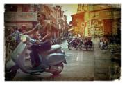 Hanoi Retro Print by Stuart Godwin