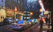 City Scape Painting Framed Prints - Hanover Street Framed Print by Don  Reed