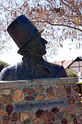 Hans Christian Andersen Statue In The Park In Solvang California Print by Susanne Van Hulst