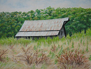 Weathered Pastels Prints - Hans Creek Barn 2 Print by James Clewell