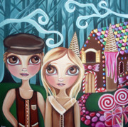 Gothic Poster Posters - Hansel and Gretel Poster by Jaz Higgins