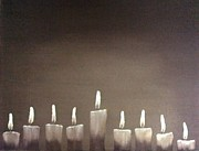 Menorah Paintings - Hanukkah by Annemeet Van der Leij