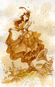 Fashion Painting Metal Prints - Happiness Metal Print by Brian Kesinger