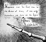 Dumbledore Prints - Happiness Can Be Found Print by Jera Sky