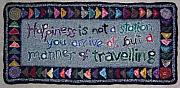 Primitive Tapestries - Textiles - Happiness Is...  by Maureen McIlwain