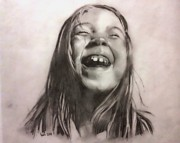 Happiness Drawings Originals - Happiness by Luis  Leon