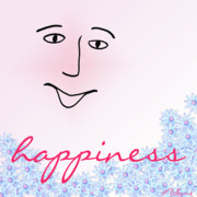Happiness Mixed Media - Happiness by Methune Hively