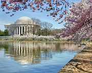 Jefferson Memorial Tapestries Textiles - Happiness by Mitch Cat