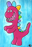 Outsider Drawings - Happosaur by Jera Sky