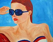 4th July Painting Framed Prints - Happy 4TH Framed Print by Irit Bourla
