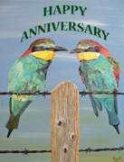 Greetings Card - Happy Anniversary by Eric Kempson