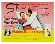 Gaynor Framed Prints - Happy Anniversary, Mitzi Gaynor, David Framed Print by Everett