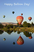 Prosser Balloon Rally Prints - Happy Balloon Day Print by Carol Groenen
