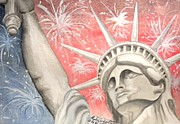 Liberty Paintings - Happy Birthday America 2012 by Robin Sylvester