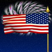 4th July Digital Art Framed Prints - Happy Birthday America Framed Print by Ganesh Barad