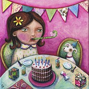 Happy Birthday Prints - Happy birthday Boo Print by Joanna Dover