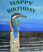 Kingfisher Mixed Media - Happy Birthday by Eric Kempson