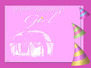 Happy Birthday Wish Framed Prints - Happy Birthday Girl Framed Print by Debra     Vatalaro
