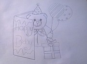 Birthday Present Drawings - Happy Birthday by Veronica Abuyog