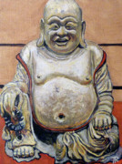 Asian Art Paintings - Happy Buddha  by Tom Roderick